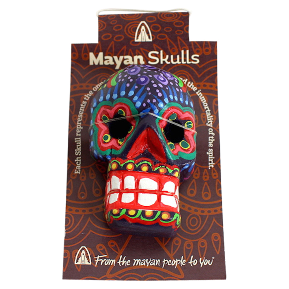 Mexitraders Magnetic Wooden Skulls